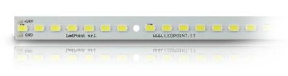 Immagine di Barra in alluminio con 56 led luce bianco freddo 6000-6500K formato 5730 Honglitronic, 0,96A max
