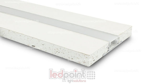 Picture of Aluminum profile with plasterboard 44x12mm, 2 meters