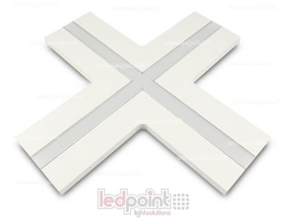 Picture of X connection for aluminum profile with plasterboard 44x12mm