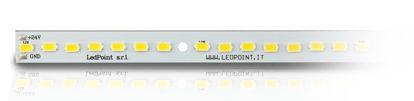 Immagine di Barra in alluminio con 56 led luce bianco caldo 2900-3000K formato 5730 Honglitronic, 0,96A max