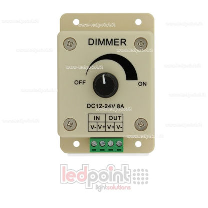 Picture of Manual dimmer for LED strips, 12~24V 8A