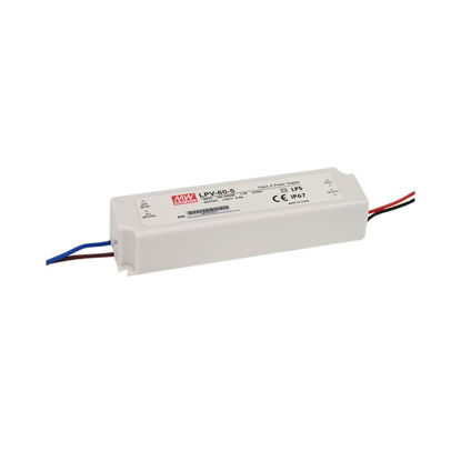 Picture of Mean Well IP67 power supply, 60W, 12V  (LPV-60-12)