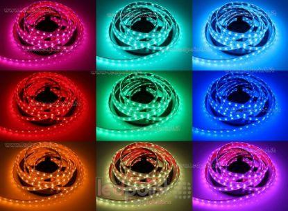 Immagine di Striscia led 5m RGB 5050 60led/m Honglitronic 24V 14,4W/m, IP64 tubo di silicone estruso bordi pieni interno vuoto
