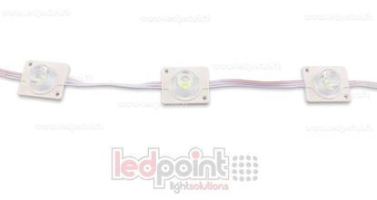 Immagine di Modulo led 3535, 2,2W 12V, bianco freddo 6000-6500K, IP65 con lente 20°*60°