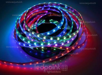 Immagine di Striscia led 5m Control RGB 5050 60led/m 12V 13W/m, IP64 tubo di silicone estruso bordi pieni interno vuoto