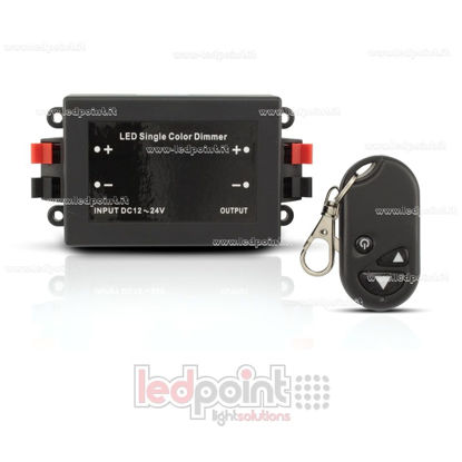Picture of RF controlled dimmer for led strips, 12~24V 8A