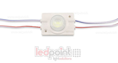 Picture of LED module 3030, 1,2W 12V, cold white 7000-8000K, IP65 with 13°*42° lens