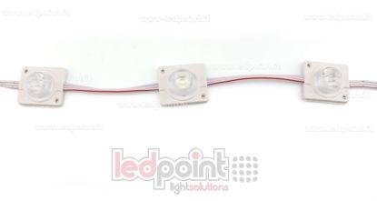 Immagine di Modulo led 3535, 2,2W 12V, bianco caldo 3000-3220K, IP65 con lente 20°*60°