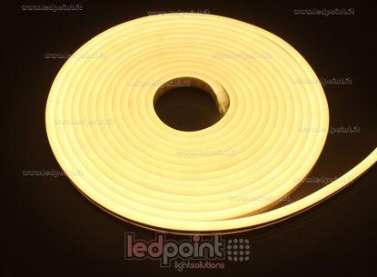 Immagine di Led Neon Flex 6mm bianco caldo 2835 12V 9,6W 120led/m IP65 5m