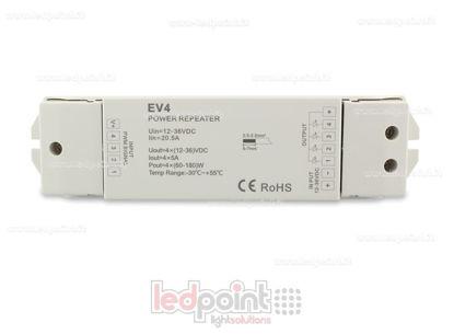 Immagine di Amplificatore RGBW 20A (4 canali da 6A) 12-36V