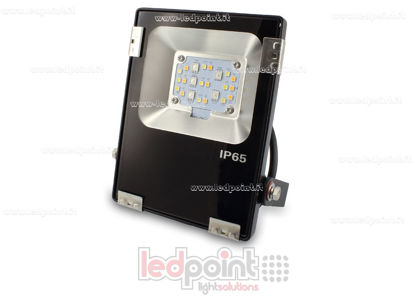 Picture of Black floodlight for outdoors RGB+CCT 10W 230V