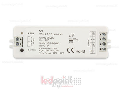 Picture of CCT controller 12-24V, 2ch*5A, RF 2.4G