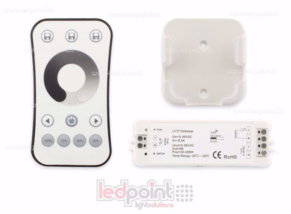 Bild von Kit remote + monochromatic push button controller 5/36V, 1ch*8A, RF 2.4G