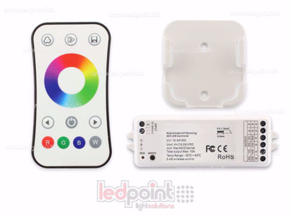 Picture of Kit remote + RGBW controller 12/24V,  4ch*6A, Max 15A, RF 2.4G