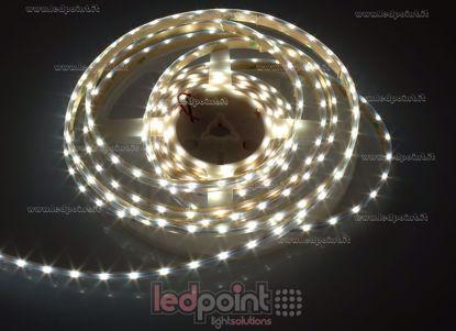 Bild von LED-Streifen 5m neutral-weiß 4000-4500K 3014 side led 60LEDs/m 12V 4,8W/m, IP64 dicker Syliconrohr, PCB 5mm
