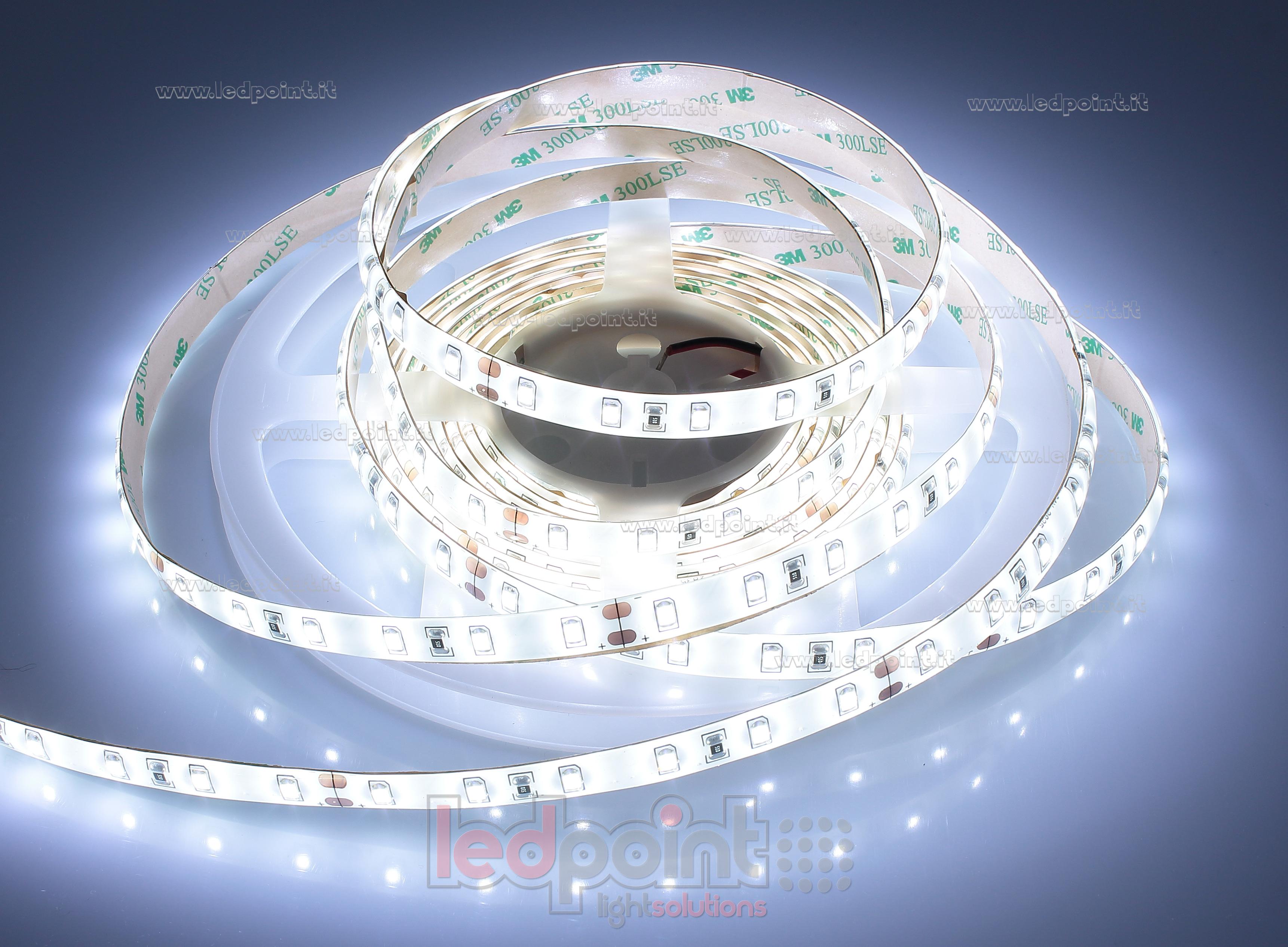 led strip 1m natural white 4000 4250k 60leds m ip53 ip65 2835 honglitronic 24v ledpoint s r l. Black Bedroom Furniture Sets. Home Design Ideas