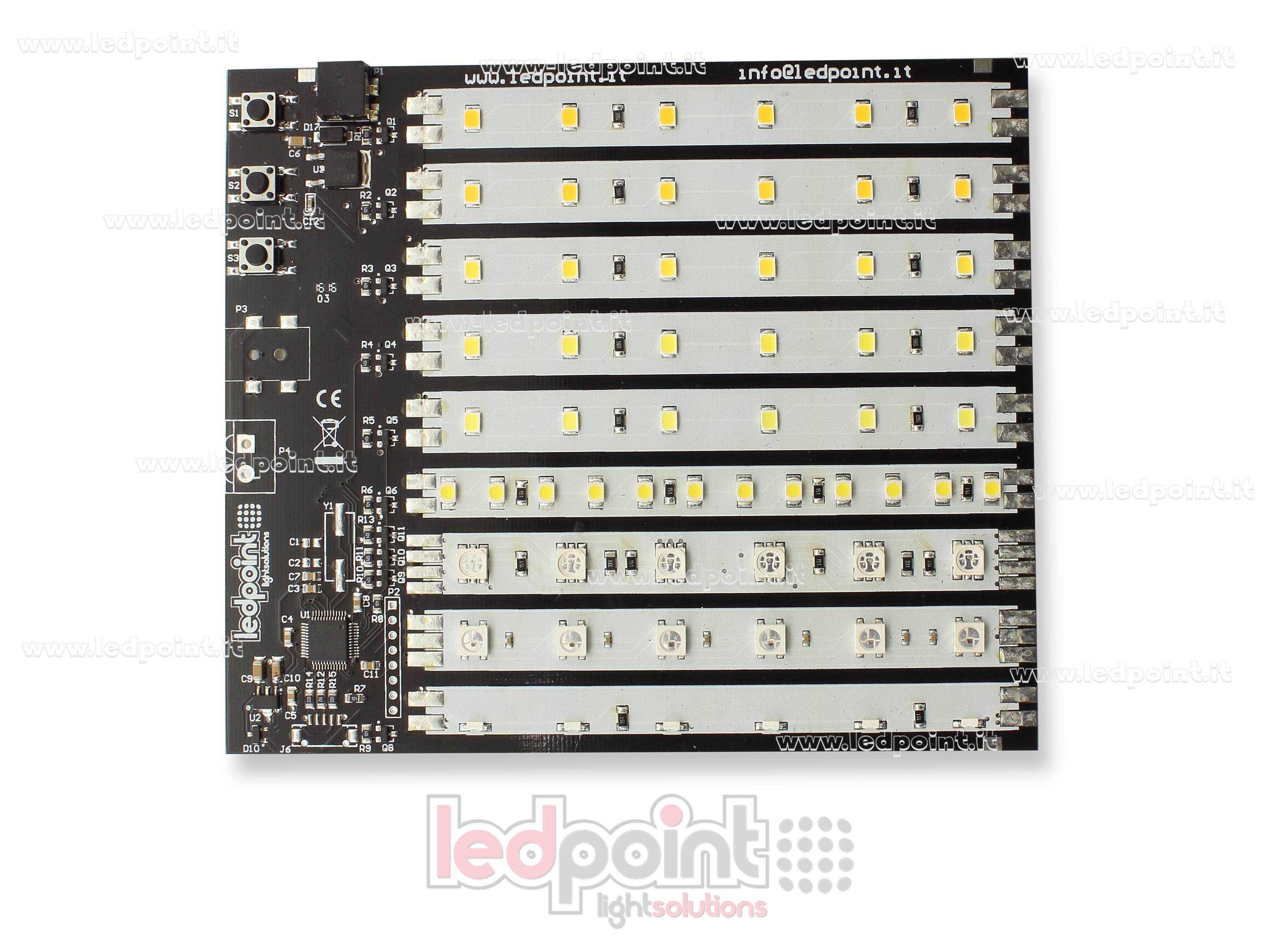 espositore di 9 tipi di strisce led ledpoint s r l