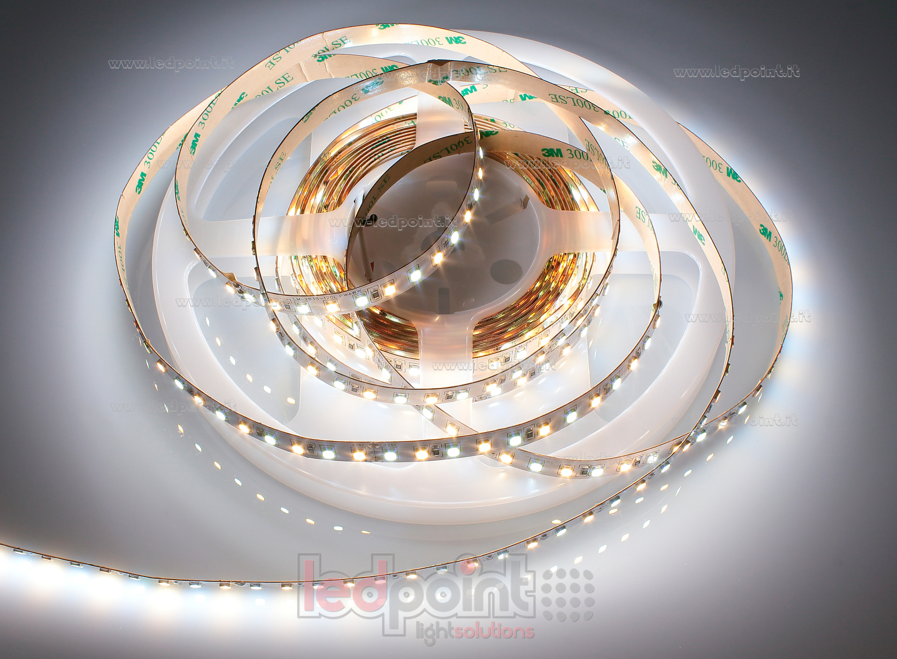 cct led strip 5m 2600 6500k 120leds m honglitronic 2835 24v ledpoint s r l. Black Bedroom Furniture Sets. Home Design Ideas