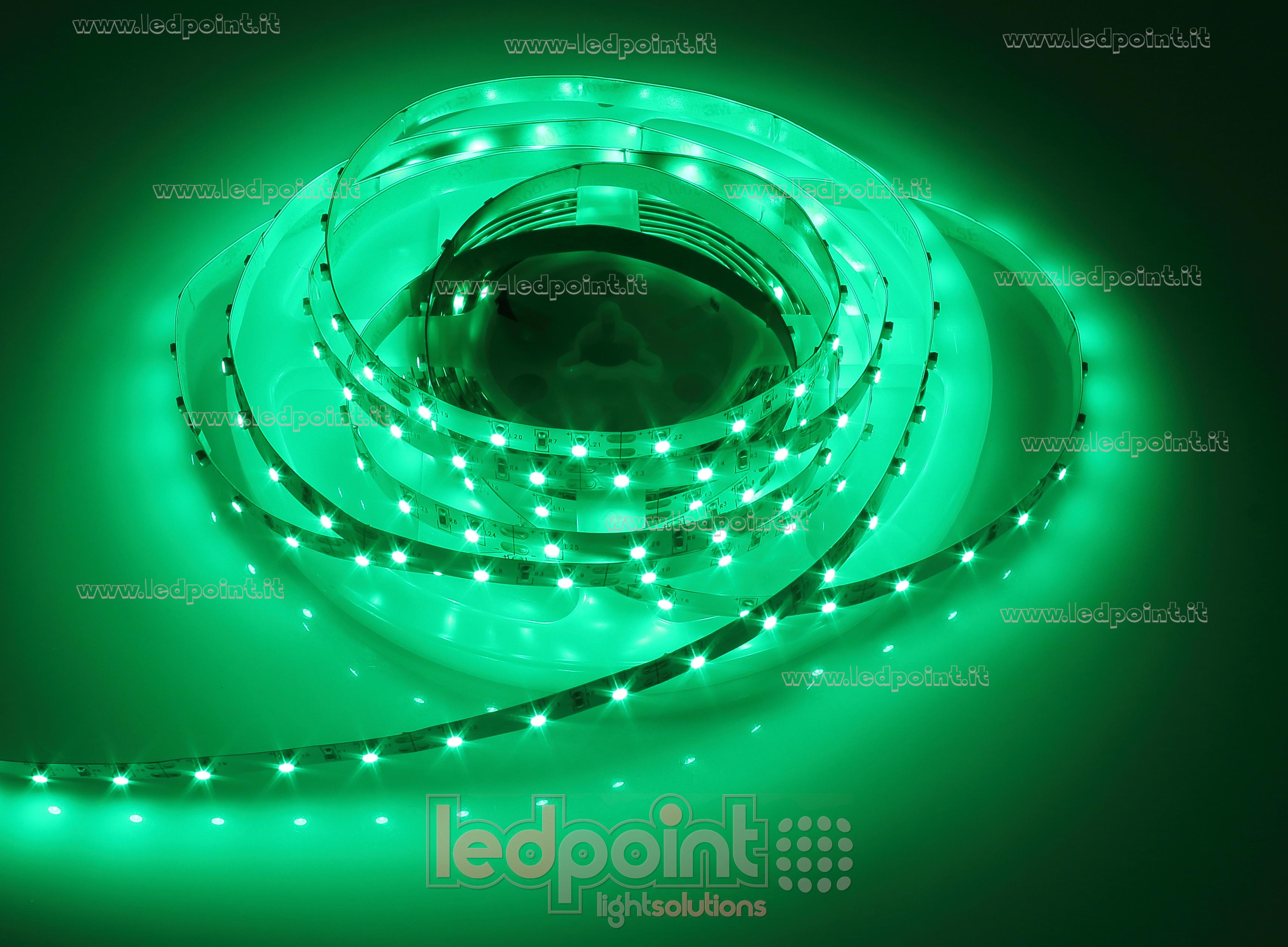 ruban led vert 5m 60leds m 3528 12v ledpoint s r l. Black Bedroom Furniture Sets. Home Design Ideas