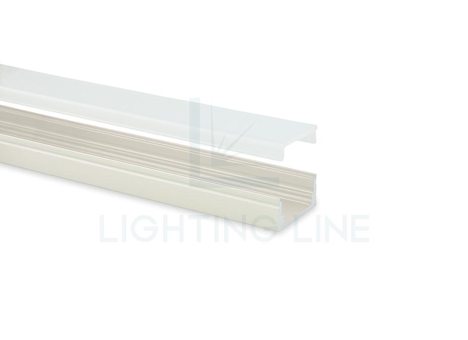 Perfil en aluminio pintado blanco 17x8mm 2 metros - Perfil aluminio blanco ...