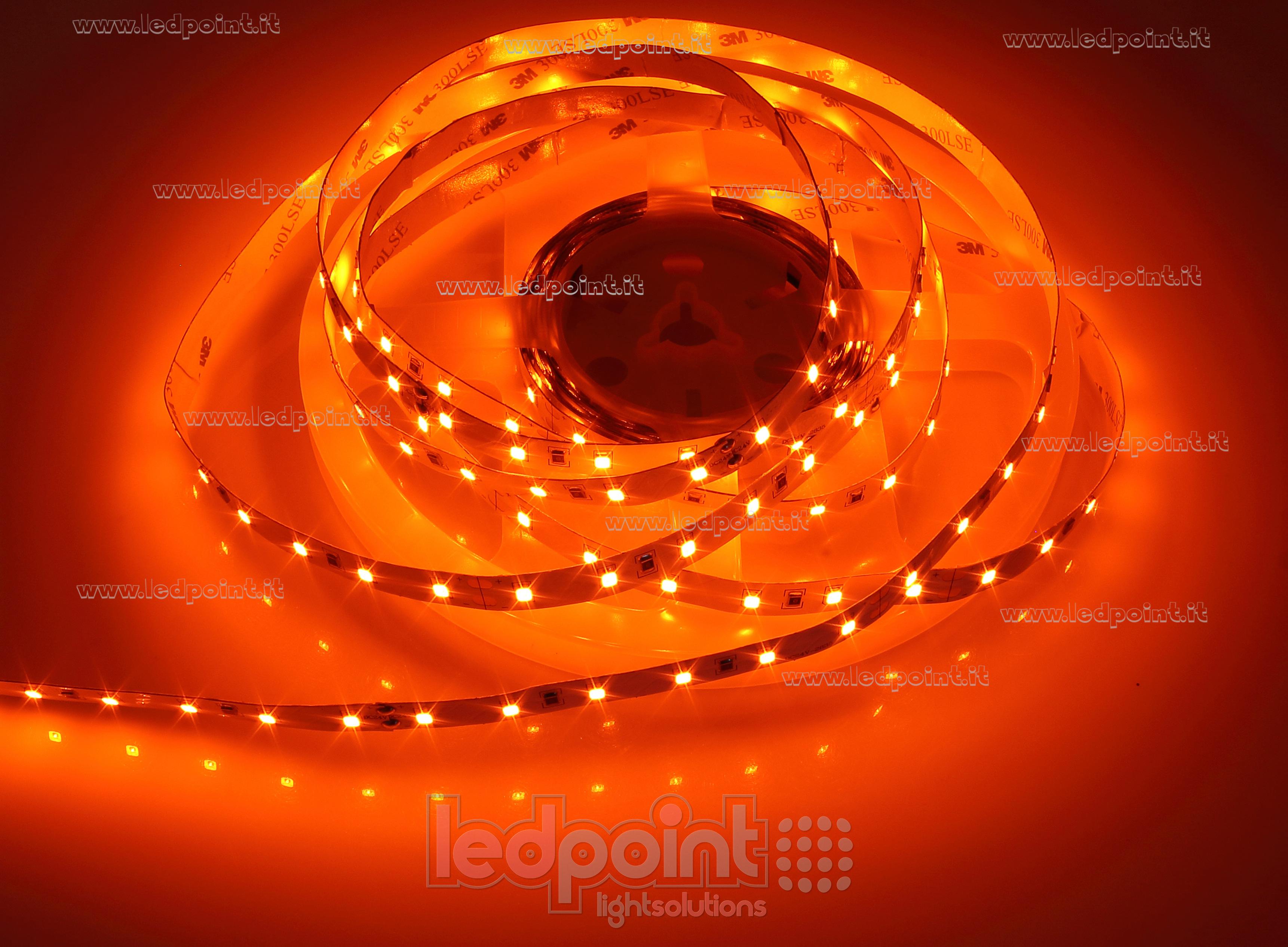 innovative design 7fbc9 fad26 Orange LED strip 5m 60leds/m 2835 24V 14,4W/m | Ledpoint S.r.l.