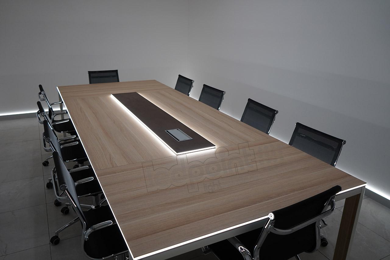 Tavolo da riunione con illuminazione led ledpoint s r l